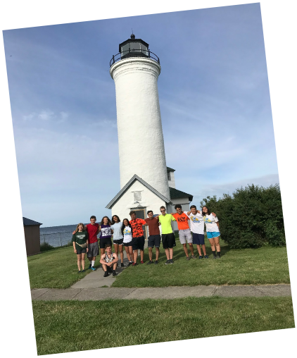 Teen Treks Lake Ontario bicycles around Lake Ontario and visits Tibbetts Point Lighthouse hostel